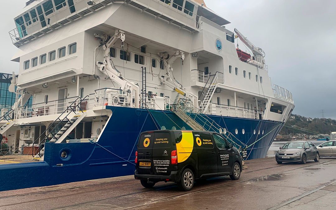 Backing up maritime organisation ship, The ILV Granuaile